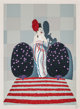 Erté (Romain de Tirtoff) (Russian/French, 1892-1990) Lafayette, 1979 Screenprint in colors on paper 26-1/2 x 19-1...