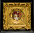 Ceramics & Porcelain, Continental, A Royal Vienna-Style Porcelain Portrait Plate in Giltwood Frame,early 20th century. Marks to reverse: (beehive), Duchess ...