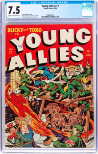 Young Allies Comics #11 (Timely, 1944) CGC VF- 7.5 Cream to off-white pages