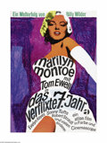 """Movie Posters:Comedy, The Seven Year Itch (20th Century Fox, R-1966). German Poster (23""""X 33""""). Billy Wilder directed this amusing sex farce abou..."""