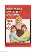 "Movie Posters:Comedy, Some Like It Hot (United Artists, 1959). One Sheet (27"" X 41"").Billy Wilder directed this classic American comedy about two..."