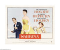 "Movie Posters:Romance, Sabrina (Paramount, 1954). Half Sheet (22"" X 28""). This was AudreyHepburn's first role after winning the Academy Award for ..."