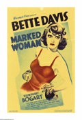 "Movie Posters:Crime, Marked Woman (Warner Brothers, 1937). Midget Window Card (8"" X12.5""). This Warner Brothers' crimer was supposedly inspired ..."