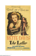 "Movie Posters:Film Noir, The Letter (Warner Brothers, 1941). Midget Window Card (8"" X 14"").William Wyler directed this tale of long held deceit and ..."