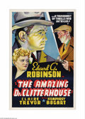 "Movie Posters:Crime, The Amazing Dr. Clitterhouse (Warner Brothers, 1938). Other CompanyOne Sheet (27"" X 41""). This ""Other Company"" poster has b..."