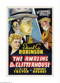 "The Amazing Dr. Clitterhouse (Warner Brothers, 1938). Other Company One Sheet (27"" X 41""). This ""Other Co..."