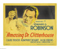 "Movie Posters:Crime, The Amazing Dr. Clitterhouse (Warner Brothers, 1938). Title LobbyCard and Lobby Card (11"" X 14""). John Huston co-wrote the ... (2items)"