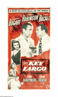 "Movie Posters:Film Noir, Key Largo (Warner Brothers, 1948). Three Sheet (41"" X 81""). Madethe same year as ""Treasure of Sierra Madre,"" John Huston di..."
