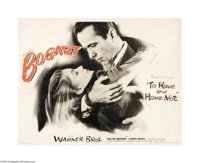 "To Have and Have Not (Warner Brothers, 1944). Half Sheet (21"" X 27""). This was the film noted as the start of..."