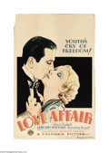 "Movie Posters:Drama, Love Affair (Columbia, 1932). Window Card (14"" X 22""). HumphreyBogart was new at his craft when hired by Columbia for his f..."
