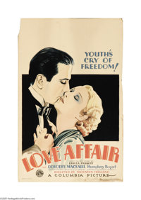 """Love Affair (Columbia, 1932). Window Card (14"""" X 22""""). Humphrey Bogart was new at his craft when hired by Colu..."""