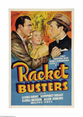 "Movie Posters:Crime, Racket Busters (Warner Brothers, 1938). Other Company One Sheet(27"" X 41""). What an improvement over the lackluster origina..."