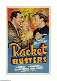 """Racket Busters (Warner Brothers, 1938). Other Company One Sheet (27"""" X 41""""). What an improvement over the lack..."""