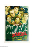 "Movie Posters:Crime, Crime School (Warner Brothers, 1938). One Sheet (27"" X 41"").Humphrey Bogart, as the Deputy Commissioner of Corrections, tak..."