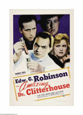 "Movie Posters:Crime, The Amazing Dr. Clitterhouse (Warner Brothers, 1938). One Sheet(27"" X 41""). A psychiatrist studying the criminal mind (Edwa..."