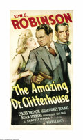 "Movie Posters:Crime, The Amazing Dr. Clitterhouse (Warner Brothers, 1938). Three Sheet(41"" X 81""). This gorgeous three sheet, with images of the..."