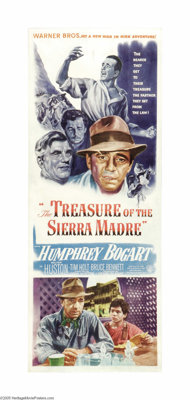 "Treasure of the Sierra Madre (Warner Brothers, 1948). Insert (14"" X 36""). Humphrey Bogart received an Oscar no..."