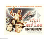 "The Treasure of the Sierra Madre (Warner Brothers, 1948). Half Sheet (22"" X 28""). John Huston's great story of..."