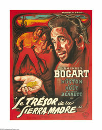 "Treasure of the Sierra Madre (Warner Brothers, 1948). French Grande (47"" X 63""). This was the third teaming of..."