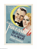 """Movie Posters:Comedy, Reaching for the Moon (United Artists, 1930). One Sheet (27"""" X 41""""). At the age of forty-seven, Fairbanks was embarking into..."""