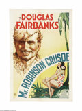 "Movie Posters:Adventure, Mr. Robinson Crusoe (United Artists, 1932). One Sheet (27"" X 41"").This delightful Douglas Fairbanks talkie takes the Daniel..."