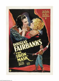 "Movie Posters:Adventure, Iron Mask (United Artists, 1929). One Sheet (27"" X 41""). This 1929silent version was the last silent film produced by and s..."