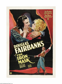 """Iron Mask (United Artists, 1929). One Sheet (27"""" X 41""""). This 1929 silent version was the last silent film pro..."""