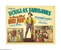 "The Private Life of Don Juan (United Artists, 1934). Title Lobby Card (11"" X 14""). This was the last onscreen..."