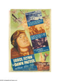 "Movie Posters:War, Dawn Patrol (Warner Brothers, 1938). Midget Window Card (8"" X 11.75""). Errol Flynn, David Niven and Basil Rathbone star in t..."