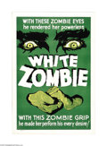 "Movie Posters:Horror, White Zombie (United Artists, R-1937). One Sheet (27"" X 41""). Thisis the granddaddy of all zombie films! Bela Lugosi portra..."