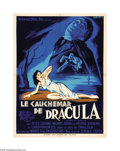 "Movie Posters:Horror, Horror of Dracula (Warner Brothers, 1958). French Poster (23.5"" X31.5""). The first of Hammer Studios great series featuring..."