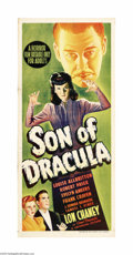 "Movie Posters:Horror, Son of Dracula (Universal, 1943). Australian Daybill (13"" X 30"").This Universal Horror thriller was a collaboration between..."