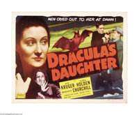 "Dracula's Daughter (Universal, R-1949). Half Sheet (22"" X 28""). Gloria Holden stars as Count Dracula's daughte..."