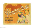 "Movie Posters:Horror, The Vampire Bat (Majestic Pictures Inc., 1933). Title Lobby Card(11"" X 14""). The terrible resurgence of vampirism in the ti..."