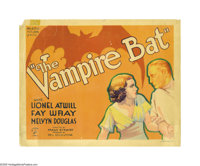 """The Vampire Bat (Majestic Pictures Inc., 1933). Title Lobby Card (11"""" X 14""""). The terrible resurgence of vampi..."""