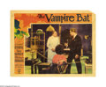 "Movie Posters:Horror, The Vampire Bat (Majestic Pictures Inc., 1933). Lobby Card (11"" X 14""). Anxious to ride the coattails of its 1932 hit ""Docto..."