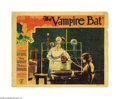 """Movie Posters:Horror, The Vampire Bat (Majestic Pictures Inc., 1933). Lobby Card (11"""" X 14""""). Lionel Atwill's onscreen brooding sense of madness o..."""