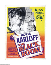 """The Black Room (Columbia, R-1955). Poster (30"""" X 40""""). Boris Karloff never enjoyed a better showcase for the f..."""
