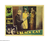 "The Black Cat (Universal, 1934). Lobby Card (11"" X 14""). Film history's two masters of fright, Bela Lugosi and..."