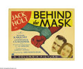 "Movie Posters:Crime, Behind the Mask (Columbia, 1932). Title Lobby Card and Lobby Cards (2) (11"" X 14""). Boris Karloff and great character actor ... (3 items)"