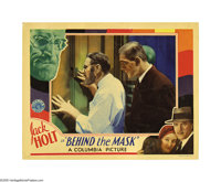 "Behind the Mask (Columbia, 1932). Lobby Cards (2) (11"" X 14""). Square jawed Jack Holt plays a determined F.B.I..."