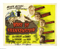 """Movie Posters:Horror, House of Frankenstein (Realart, R-1950). Title Lobby Card (11"""" X14""""). This film repeats the formula used in the previous Mo..."""