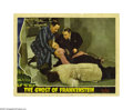 "Movie Posters:Horror, Ghost of Frankenstein (Universal, 1942). Lobby Card (11"" X 14""). Released Friday the 13th, 1942, this was the fourth in the ..."