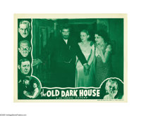 """The Old Dark House (Universal, R-1939). Lobby Cards (2) (11"""" X 14""""). A group of people take shelter from a rag..."""