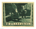 "Movie Posters:Horror, Frankenstein (Universal, R-1938). Lobby Cards (2) (11"" X 14"").""This is still the definitive version of Mary Shelley's novel... (2items)"