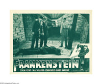 "Frankenstein (Universal, R-1947). Lobby Card (11"" X 14""). In the field of movie poster collecting, the most de..."