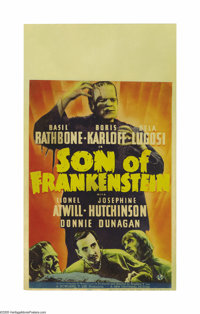 "Son of Frankenstein (Universal, 1939). Midget Window Card (8"" X 14""). This was the third of Universal's Franke..."
