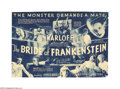 "Movie Posters:Horror, The Bride of Frankenstein (Universal, 1935). Herald (7"" X 9.5"").This marked the end of the classic, James Whale directed Fr..."