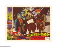 "WereWolf of London (Realart, R-1951). Lobby Cards (5) (11"" X 14""). Warner Oland, taking a break from his Charl..."