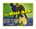"Movie Posters:Horror, The Wolf Man (Universal, 1941). Title Lobby Card (11"" X 14""). Bythe early 1940s, Universal had two well established monster..."